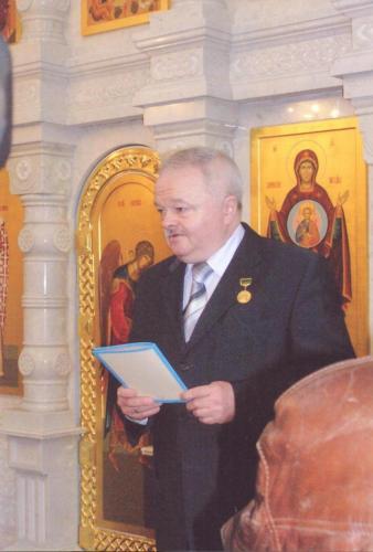 Вручение В.В.Кустову награды Русской Православной Церкви